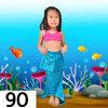 NB006-90 ชุดว่ายน้ำเด็ก หางนางเงือก สี ชมพู ฟ้า มีเกล็ด กระโปรง สามารถนำขาออกได้ ทรง 1 ชุด มี 3 ชิ้น