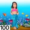 NB006-100 ชุดว่ายน้ำเด็ก หางนางเงือก สี ชมพู ฟ้า มีเกล็ด กระโปรง สามารถนำขาออกได้ ทรง 1 ชุด มี 3 ชิ้น