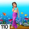 NB005-110 ชุดว่ายน้ำเด็ก หางนางเงือก สี ฟ้า ม่วง มีเกล็ด กระโปรง สามารถนำขาออกได้ ทรง 1 ชุด มี 3 ชิ้น